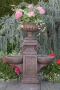 """Double Bowl Fountain With 16"""" Milano Urn"""