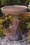 Tree Stump Bird Bath