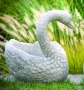 Heart Swan Planter - Left