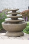 Four Tier Gozo Fountain With Petal Pool