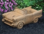"11"" Classic Cream Puff Car Planter"