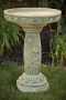 "25"" Tulip Garden Bird Bath"