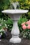 """30"""" Chelsea Fleur De Lis Hex Fountain"""