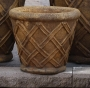 "13"" Weaved Round Planter"