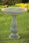 "28"" Victorian Fern Leaf Bird Bath"