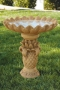 "31"" Pineapple Leaves Bird Bath"