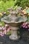 Doves of Love on Flower Shell Fountain