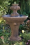 "52"" One Tier Lion Finial Fountain"