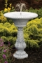 "30"" Fern Leaf Fleur De Lis Fountain"